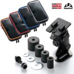 ナンカイ KANI スマートフォンポーチI5 (iPhone5/4/4S対応サイズ:PB-19) + ステムクランプ(PB-07W) セット