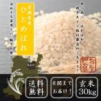 新米 米 30kg 29年産  玄米  ひとめぼれ お米 送料無料 宮城県産