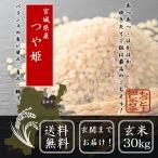 新米 30年産  宮城県産つや姫 玄米 30kg お米 送料無料