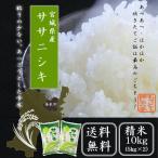 1年産年  ササニシキ 10kg(5kg×2)  送料無料  精白米