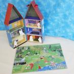 ムーミンハウス&木製人形5個セット+パズル付き(ドールハウス/7歳から) 北欧