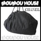 CHANEL シャネル マトラッセ 巾着型 シルバーチェーンショルダーバッグ ブラック 美品 リ