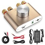 Yahoo!Mt.N[新商品] Nobsound NS-01G Pro パワーアンプ bluetooth 50W×2 アンプ スピーカー HiFi オーディオ 電源付き (ゴールド)