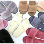 ムートンスリッパ ムートンブーツ 素足で履ける 洗える 天然羊毛 スリッパ あったか ルームシューズ デラックスタイプ レディース メンズ ふわふわ E803
