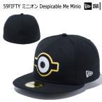 帽子 キャップ cap メンズ レディース ニューエラ NEW ERA 59FIFTY ミニオン Despicable Me Minion ブラック あすつく