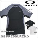 サーフィン 海 プール ラッシュガード ショートスリーブ 半袖 メンズ オークリー OAKLEY SS PRESSURE8.0 4WAYストレッチ 吸汗速乾 UPF50+