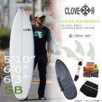 Yahoo!MOVEサーフィン スターターお得6点セット CLOVER(クローバー) SURFBOARDS SB ショートボード 素材/PU 初心者 中級者向け