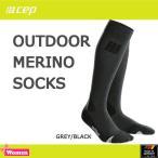 cep(シーイーピー) レディース アウトドア メリノソックス (cep-old)OUTDOOR MERINO SOCKS (GREY/BLACK)(sps50)