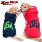 犬服 秋冬 mowmow 大型犬用 パーカー USA アメカジ 大きいサイズ お散歩 かっこいい dog-ogt0012