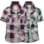 カジュアルシャツ チェックシャツ メンズ 半袖 トップス クールビズ カジュアル 大きいサイズ アメカジ ta-sysmix0005