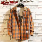 カジュアルシャツ メンズ レディース チェックシャツ 長袖シャツ かわいい 秋冬物 春物 yoyaku-ns0003