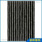 IKEA イケア ラグ 絨毯 パイル短 ブラック/ホワイト 133x195cm ゴルローセ GORLOSEの写真