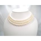 淡水真珠 ロングネックレス7.0〜7.5mm パール 120cmロング