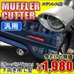 汎用 マフラーカッター シングル 下向き L型 オーバル シルバー 213