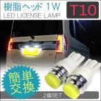 T10 T16 LED ナンバー灯 1W 樹脂ヘッド 2個セット