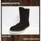 SALE セール 当店別注カラー MONTE CIVETTAモンテチベッタ ペコスブーツ PECOS VIBRAM ビブラム / ブラック BLACK 黒