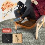 ホットカーペット USB式 ミニ 足元 椅子 座布団 ペット 暖房 電気マット 暖房マット ヒーターマット 一人用 洗える 節電 滑り止め付 敬老の日
