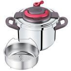 ティファール 圧力鍋 クリプソアーチ 6L パプリカレッド P4360732【IH対応】【送料無料】