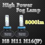 H8 H11 H16 フォグランプLED 8000LM ファンレス ハイパワーLED