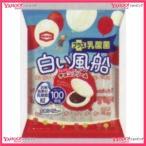 YCx亀田製菓 18枚 白い風船チョコクリーム【チョコ】×12個 +税 【xeco】【エコ配 送料無料 (沖縄 不可)】