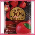 YCxエースベーカリー 20Gx7個 果汁30%蒟蒻ゼリーアップル×24個 +税 【xeco】【エコ配 送料無料 (沖縄 不可)】