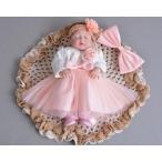ベビードレス 女の子 結婚式 子供服 七五三 赤ちゃん ワンピース フォーマル 子ども ドレス 3点セット
