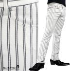 ショッピング細身 パンツ ストライプ ストレート メンズ 日本製 ストレッチ スリム シンプル ボトムス(ホワイト白) 933116