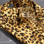 ショッピングレオパード シャツ スキッパー 豹 ヒョウ柄 ドレスシャツ ボタンダウン 日本製 サテンシャツ メンズ(イエロー黄) 935142