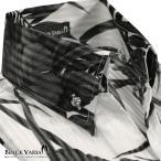 サテンシャツ スキッパー ハイビスカス柄 日本製 ストライプ柄 ボタンダウン スリム ジャガード パーティー シャツ メンズ(ホワイト白ブラック黒) 935170