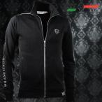 VIOLA rumore ヴィオラルモア ジップアップジャケット リフレクタープリント スタンドカラー シンプル ブルゾン メンズ(ブラック黒) 81132