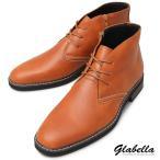 チャッカブーツ サイドジップ ミドルカット チャッカブーツ ショートブーツ 紐靴 シューズ メンズ(キャメルブラウン茶) glbb168