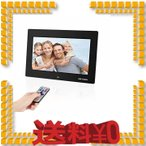 10.1インチ デジタルフォトフレーム 1280*800高解像度 広視野角 LEDバックライト液晶 人感センサー MAYOGA 写真 動画 音楽 スラ