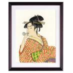 オリムパス製絲 クロスステッチ 刺しゅう キット 日本の美 名作選 ポペンを吹く娘 喜多川歌麿作 ベージュ 7185
