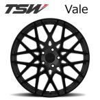 TSW Vale (ヴェイル) 18インチ 8.5 112 5H +43 マットブラック/グロスブラックフェイス 1本
