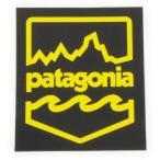 パタゴニア バッジ ステッカー 黒 黄色 PATAGONIA BADGE STICKER   バッヂ フィッツロイ 波 正規品