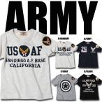 キッズ 男の子 アメカジ空軍ミリタリープリント左袖ワッペン付き半袖Tシャツ ARMY 半T GR-23