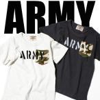キッズ 男の子 アメカジ ARMY ミリタリープリントカモフラ柄ポケット付き半袖Tシャツ 迷彩柄 YE-10