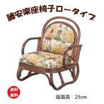籐椅子 座椅子 座いす 座イス 籐の椅子 ラタンチェア アームチェア 籐家具 ラタン家具 籐安楽座椅子 ロータイプ S-50B (250952)(IE)