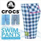 crocs(クロックス)ボーイズスイムパンツ(ギンガムチェック水着男の子スイムウェアウエアボクサーパンツタイプスイミングプール)