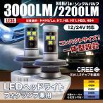 LEDヘッドライト/フォグ兼用(LE3S) 3000LM/2200LM [※型番選択] 6500K 色変更シール付 CREE製LED採用 小型 一体型 [送料無料] [12V/24V]