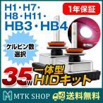 Miniオールインワン HIDキット 35W 12V 【型番選択:H1/H7/H8/H11/HB4/HB3】 HID 一体型キット コンパクトサイズ フォグランプ [送料無料]