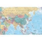 アジア地図 ポスター【GN-0761】