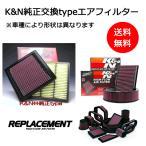 K&Nエアクリーナー純正交換タイプ 33-2273 ジャガー XF-TYPE  型式:J05FA グレード:3.0 NA 仕様:  年式:07-12