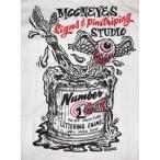 Disney ミッキーマウス + MOONEYES ムーンアイズ Tシャツ Drive 白 MICKEY 正規品