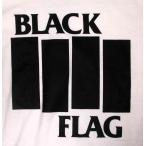 ブラック・フラッグ Black Flag Tシャツ BAR 白 正規品 ロックTシャツ バンドTシャツ