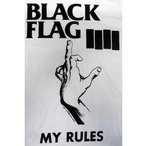 ブラック・フラッグ Black Flag Tシャツ My Rule 白 正規品 ロックTシャツ バンドTシャツ
