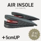 エアインソール 中敷き ハーフサイズ +5cm UP スタイルアップ ブーツ シークレット シークレットシューズ メンズ中敷き インヒール 底上げ