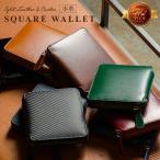 MURA 財布 メンズ 二つ折り 本革 ファスナー 10枚カード収納 コードバン調 小銭入れ  ブラック