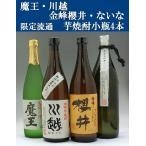 芋焼酎セット 飲みくらべ  魔王 ないな 金峰櫻井 川越 小瓶 4本セット