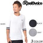 メンズ 七分袖 Tシャツ Real.B.Voice リアルビーボイス 17AWM501 EE3 H5